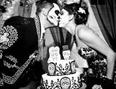 Custom Dia de los Muertos cake from my amazing sister-in-law / maid of honor