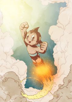 Astro boy. I happen to have the original Astro boy manga in my collection :)