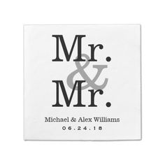 Mr. and Mr. Wedding Napkins | Custom Monogram
