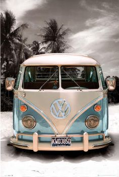 California Camper (VW Bus) Art Poster..wish VW still made these.