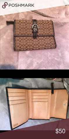 Coach wallet Tan/brown wallet with buckle. Never used and in brand new condition. Bags Wallets