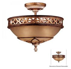 "View the Minka Lavery ML 1757 3 Light 13.25"" Height Semi-Flush Ceiling Fixture from the Aston Court Collection at LightingDirect.com."