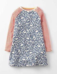 English China Stencil Jersey Swing Dress Boden