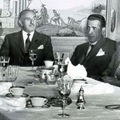 #Legendary @wbpictures #studio #boss #JackWarner, seen here at lunch with #HumphreyBogart, died #onthisday in 1978. #warnerbros #icon
