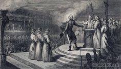French revolution history. The Fête de la Fédération.