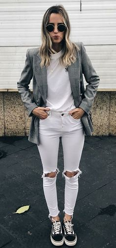 How to Wear: The Best Casual Outfit Ideas - Fashion Cute Fashion, Look Fashion, Girl Fashion, Fashion Outfits, Womens Fashion, Fashion Trends, Fashion Black, Sneakers Fashion, Mode Outfits