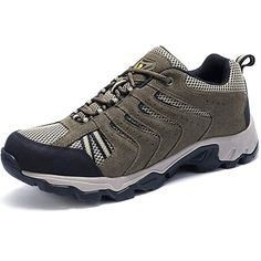 CAMEL CROWN Mens Leather Hiking Shoes Lightweight Slip-Resistant Walking  Sneakers for Outdoor Trail Trekking 2c91711dd40