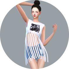 Lana CC Finds - Fringe Crop Top by Marigold