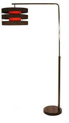 Hall Arc Floor Lamp Black Chrome Metal With Funky Black String And Inner Shade Arc Floor Lamps, Black Floor Lamp, Chrome, Decor Ideas, Shades, Living Room, Lighting, Metal, Home Decor