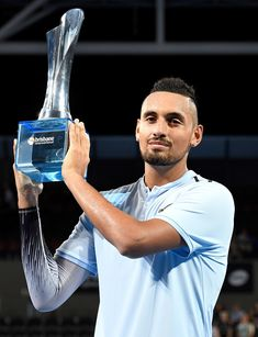 Nick Kyrgios wins 2018 Brisbane International 180107 #NickKyrgios #BrisbaneInternational