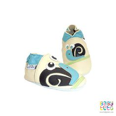 Pantuflas de cuero blando diseño caracol, $15.990 (precio referencial). Marca Chic et Chou!: http://bbt.to/1POgPI3