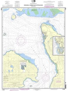 NOAA Nautical Chart 17384: Wrangell Harbor and approaches;Wrangell Harbor