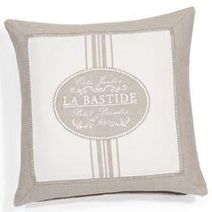 Funda de cojín de algodón 40 x 40 cm LA BASTIDE | Maisons du Monde