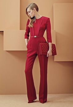 Elisabetta Franchi S/S 2014 women fashion outfit clothing style apparel closet ideas Beauty And Fashion, Red Fashion, Passion For Fashion, High Fashion, Womens Fashion, Fashion Trends, 1950s Fashion, Style Fashion, Fashion Shoes