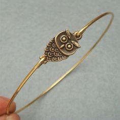 Little Owl Bangle Bracelet