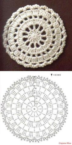 it look nice with t-shirt yarn as a rug?Would it look nice with t-shirt yarn as a rug? Crochet Mandala Pattern, Crochet Motifs, Crochet Blocks, Crochet Diagram, Doily Patterns, Crochet Chart, Crochet Squares, Crochet Doilies, Crochet Flowers