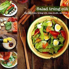 Salad trứng. Ăn THỰC ĐƠN nóng hổi đậm vị ngày mưa gió, thuc don, THUC DON - Kenh14.vn