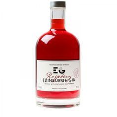 P22 Cezanne Alt 2 font and P22 Bifur font used on Raspberry Infused Edinburgh Gin
