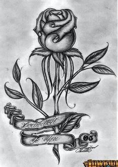 Provides rose pencil drawings or rose sketches examples and step by step drawing… Lowrider Drawings, Arte Lowrider, Chicano Drawings, Chicano Art, Tattoo Design Drawings, Love Drawings, Art Drawings Sketches, Pencil Drawings, Cholo Art
