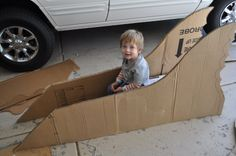how to make a cardboard car - remy