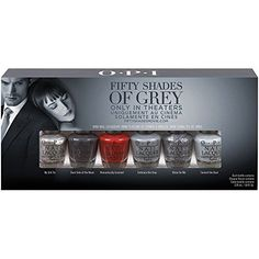 OPI Fifty Shades of Grey Collection Press Release! Come see the 6 shades in the OPI Fifty Shades of Grey Collection out in January Nail Polish Box, Grey Nail Polish, Nail Lacquer, Gray Nails, Red Nail, Shades Of Grey Film, Mr Grey, Perfume, Nail Polish Collection