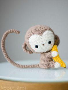 Cute crochet monkey More