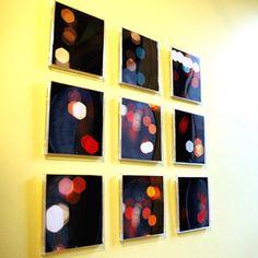 Leere CD-Hüllen als Bilderdisplays verwenden. Idee: Mosaik/Fliesenbild