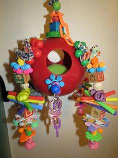 "8"" Medium Jolly Ball Bird Toy by LittlePeepsBigBeaks on Etsy https://www.etsy.com/listing/167517952/8-medium-jolly-ball-bird-toy"