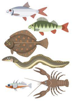 Pikku Kakkosen tulostettavia papereita | kalat | lasten | askartelu | kesä | käsityöt | koti | printable patterns | DIY ideas | kid crafts| home | Pikku Kakkonen