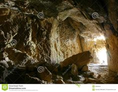 Photo about Photographer in cave (Kyrgiz mountains). Image of corridor, cavern, indoor - 4659334