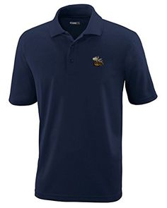 Moose Style 1 Embroidery Design Polyester Performance Polo Shirt *** Click on the image for additional details. (This is an affiliate link) #PoloTShirt