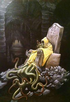 Lovecraft king in yellow Dark Fantasy Art, Fantasy Artwork, Dark Art, Lovecraft Cthulhu, Hp Lovecraft, Arte Horror, Horror Art, O Kraken, Angel Demon