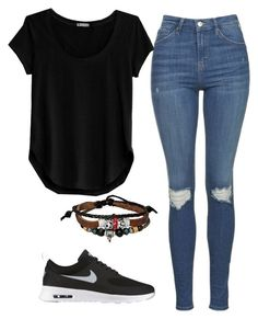 """""""Untitled #279"""" by jasmine-rlrh ❤ liked on Polyvore featuring Topshop, Cosabella, NIKE and Bling Jewelry"""