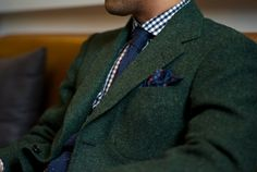 How to wear tweed.