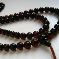 Dark baltic amber mala for meditation. #buddhism #meditation #ambermala
