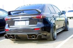 evo with s2000 diffuser and rivet zg fender flares