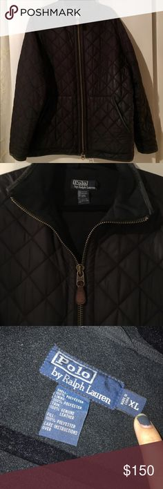 Polo by Ralph Lauren men's quilted fleece jacket Polo by Ralph Lauren men's XL quilted black fleece lined jacket. Excellent condition. 2 zippers. Polo by Ralph Lauren Jackets & Coats Puffers
