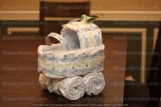 READY TO SHIP! Unique Baby Stroller Bassinet Carriage Diaper Cake-Baby Boys Baby Shower Centerpiece Bird and butterfly Pastel light Blue Diaper Bassinet, Plush Baby Blankets, Baby Carriage, Baby Shower Centerpieces, Unique Baby, Shower Cakes, Baby Boy Shower, Cake Baby, Little Gifts