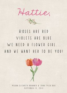 Will You Be My Flower Girl Card by In Or Out Media - What Does a Flower Girl Do? via EmmalineBride.com