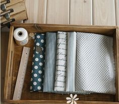 Other – 0.5m Poem, Dots, Stripe Patchwork Fabric – a unique product by Antiquefindings on DaWanda