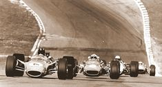 1968 Brands Hatch Race of Champions. Graham Hill Lotus 49 Cosworth,  Chris Amon Ferrari 312.  Denny Hulme McLaren M7A Cosworth  Jacky Ickx Ferrari 312
