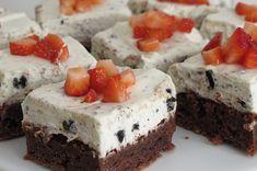 Oreo- & browniekake — Magevennlig mat Oreos, Cheesecake, Desserts, Food, Tailgate Desserts, Deserts, Cheesecakes, Essen, Postres