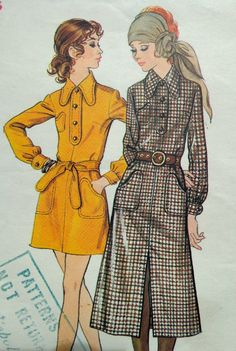 70s Dress Pattern Butterick 5888 Bust 36 A Line by PatternMatters