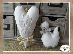 Canard et lapin beige