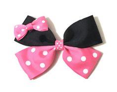 Items similar to Mickey Mouse Hair Bow, Minnie Mouse Hair bow, Disney Mickey mouse Hair bow, Baby Girl bow, Disney Hair Clip, Mickey Mouse, Swarovski crystal on Etsy
