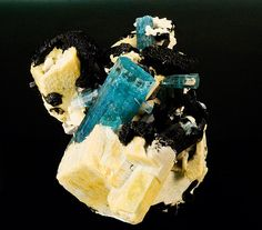 Aquamarine, schorl and feldspar
