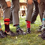 Groomsmen gift idea - Super Hero Socks (makes for cute photos)