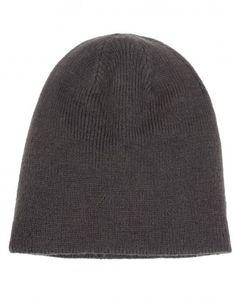 Dahlia Men's Reversible Dual Layer Beanie Hat - Rib Pattern