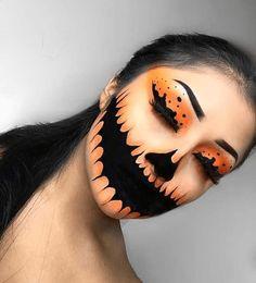 Halloween – Make-up Schminke und Co. Halloween – Make-up Schminke und Co. Creepy Halloween Makeup, Halloween Makeup Looks, Scary Makeup, Makeup Art, Halloween Pumpkin Makeup, Halloween Make Up Scary, Sfx Makeup, Scary Halloween Costumes, Beautiful Halloween Makeup