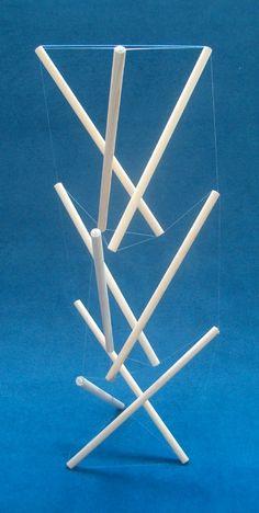 3 x 3 strut module Tensegrity tower by Marcelo Pars.